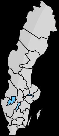 Karta över Sveriges län och de brandskyddsföretag som finns