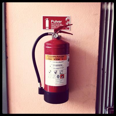 Bild på brandsläckare
